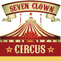seven clown circus
