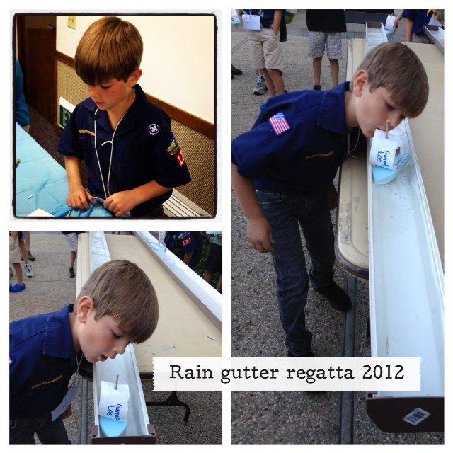 Rain Gutter Regatta 2012
