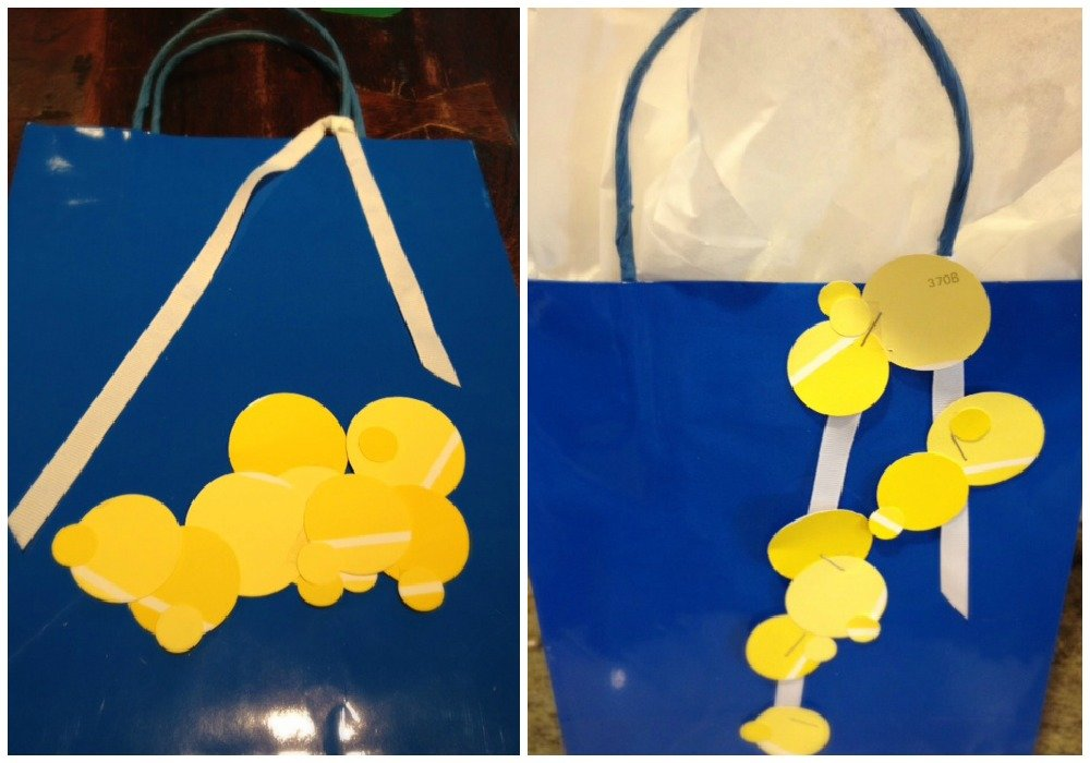 paint chip embellish bags