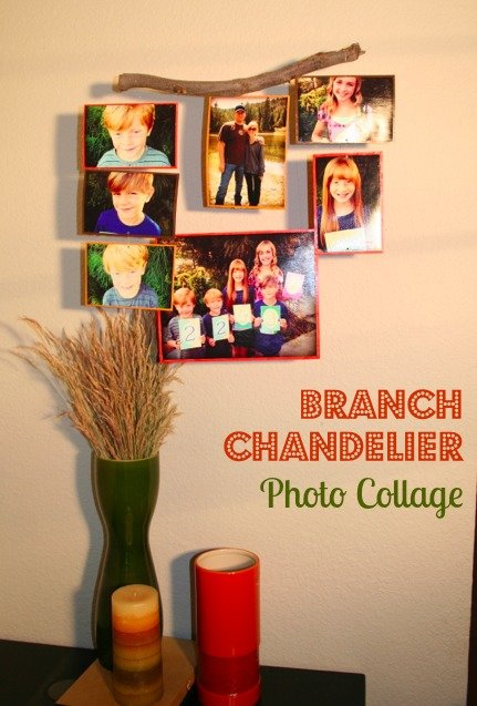 Branch Chandelier Photo Collage