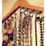DIY Clothes Hanger Jewelry Organization