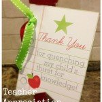 Free Printable Thank You Tags for Teachers {teacher appreciation gift}