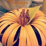 Mason Jar Lid Pumpkin {DIY craft}