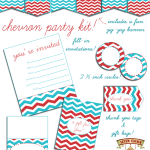 Free Printable Chevron Party Kit!