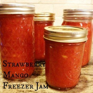 Strawberry Mango Freezer Jam