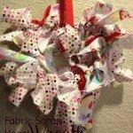 Fabric Scrap Heart Wreath {DIY}