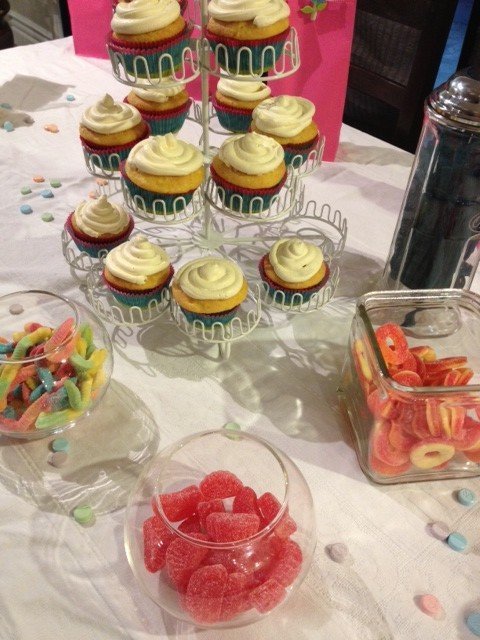 Rainbow Cupcake Themed Party
