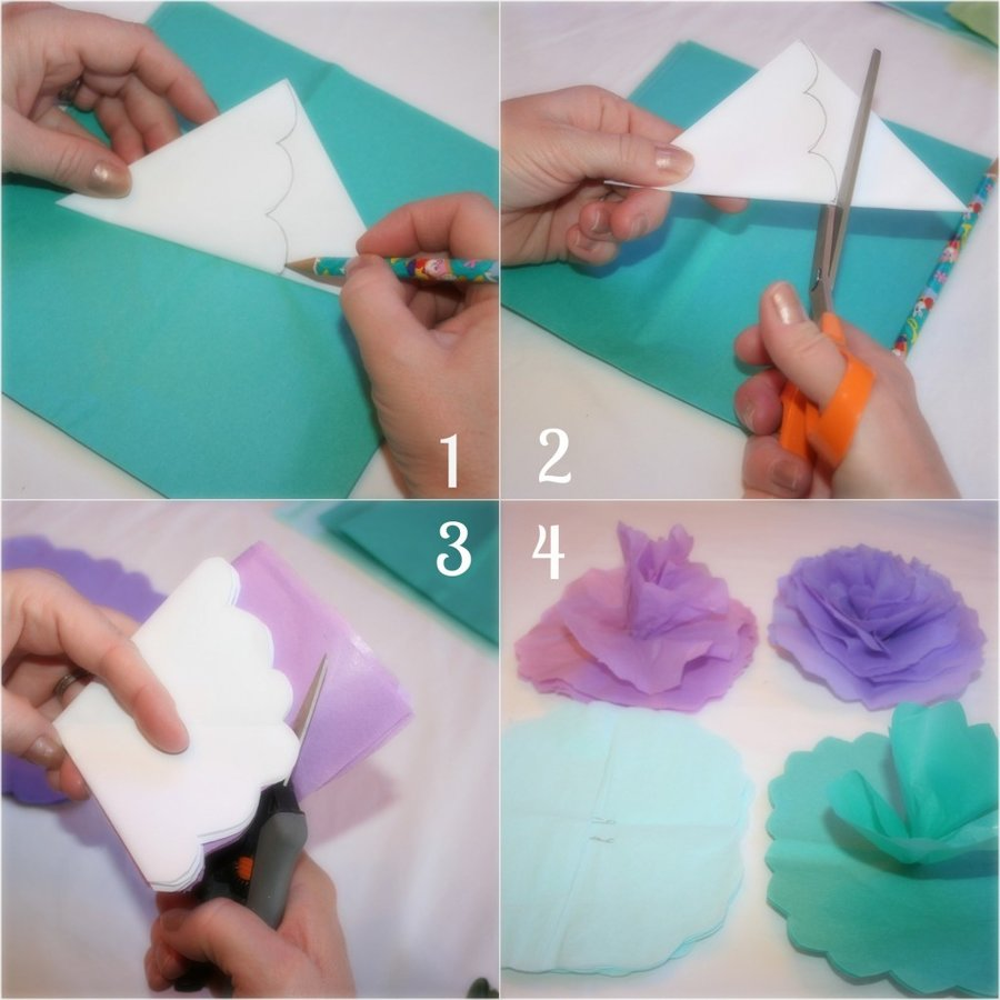 How to make tissue paper flowers ombre instructions for making tissue paper flowers mightylinksfo