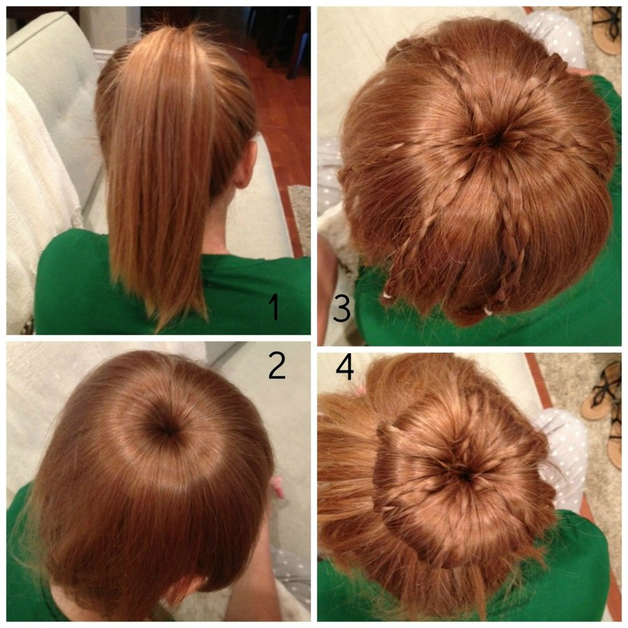 Wondrous How To Do A Bun With Braids In It Braids Short Hairstyles Gunalazisus