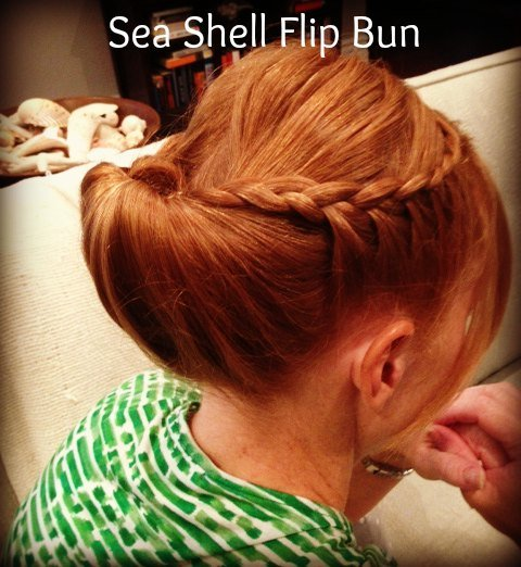 sea shell flip bun