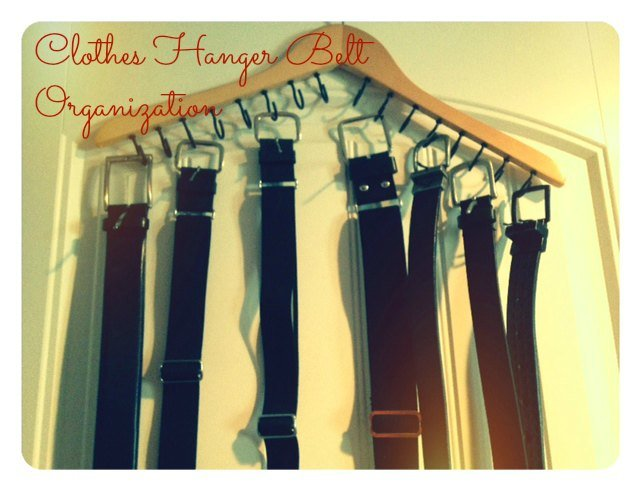 Clothes Hanger Belt Organization