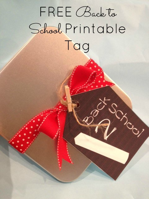 free back to school tag