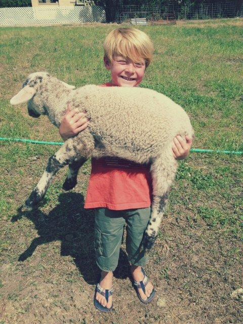 John with lamb