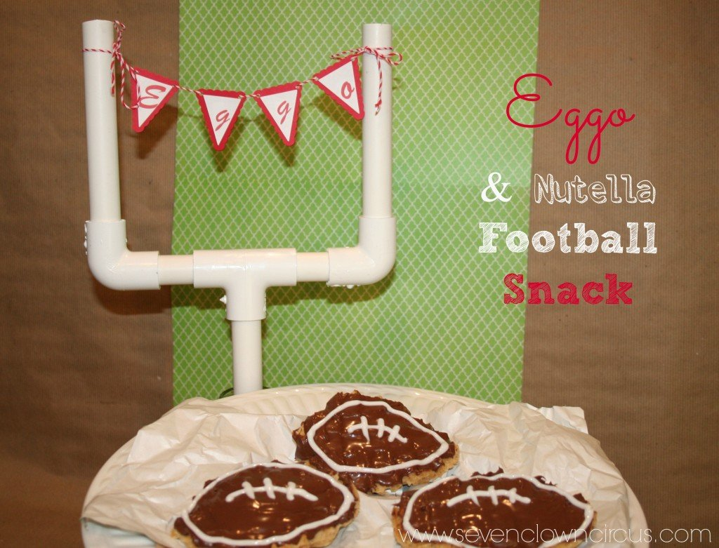 Eggo and Nutella Football Snacks