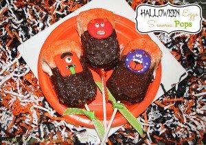 Halloween Eggo S'mores pops