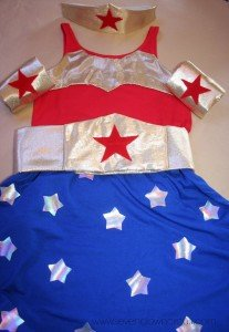 No-Sew Wonder Woman Costume