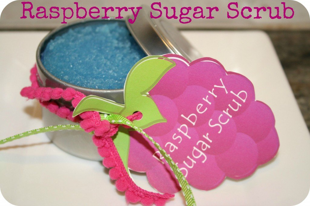 raspberry sugar scrub printable
