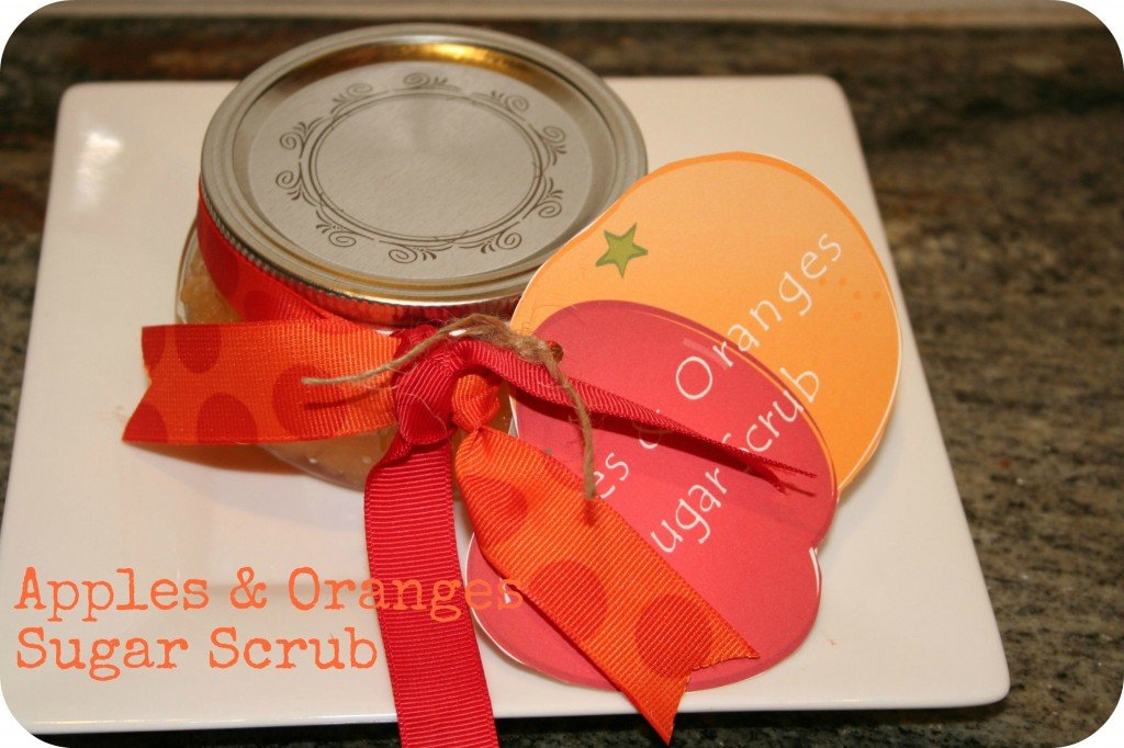 apples and oranges sugar scrub printable