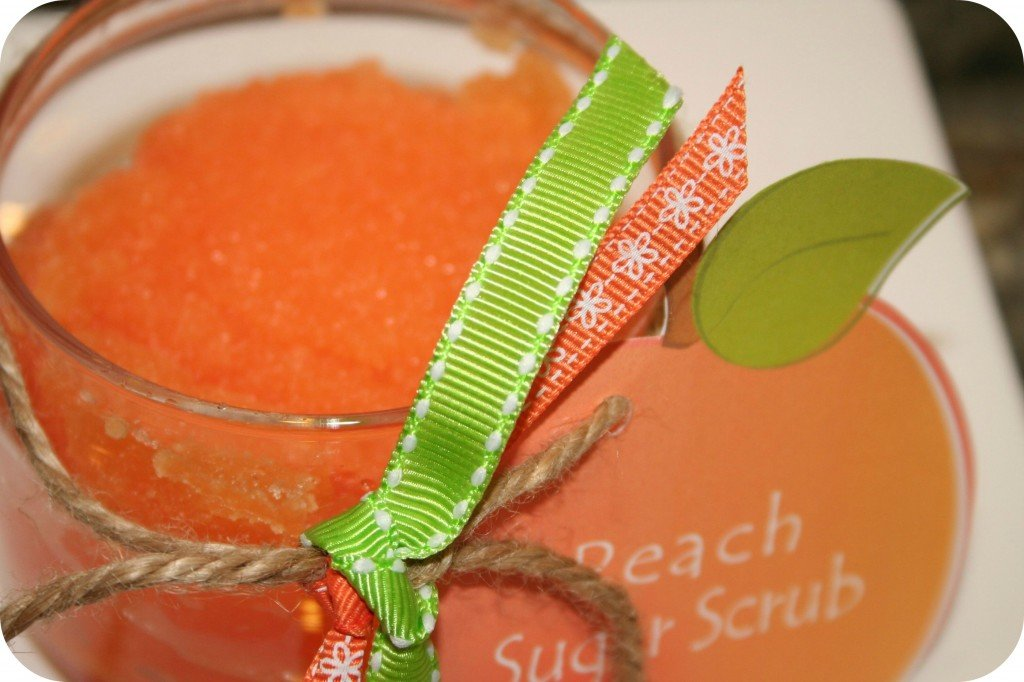 peach sugar scrub printable