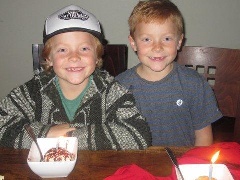 twins birthday dinner
