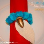 EASY Felt Leaf and Pom Pom Napkin Ring Holders {DIY}
