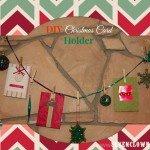 DIY Christmas Card Holder