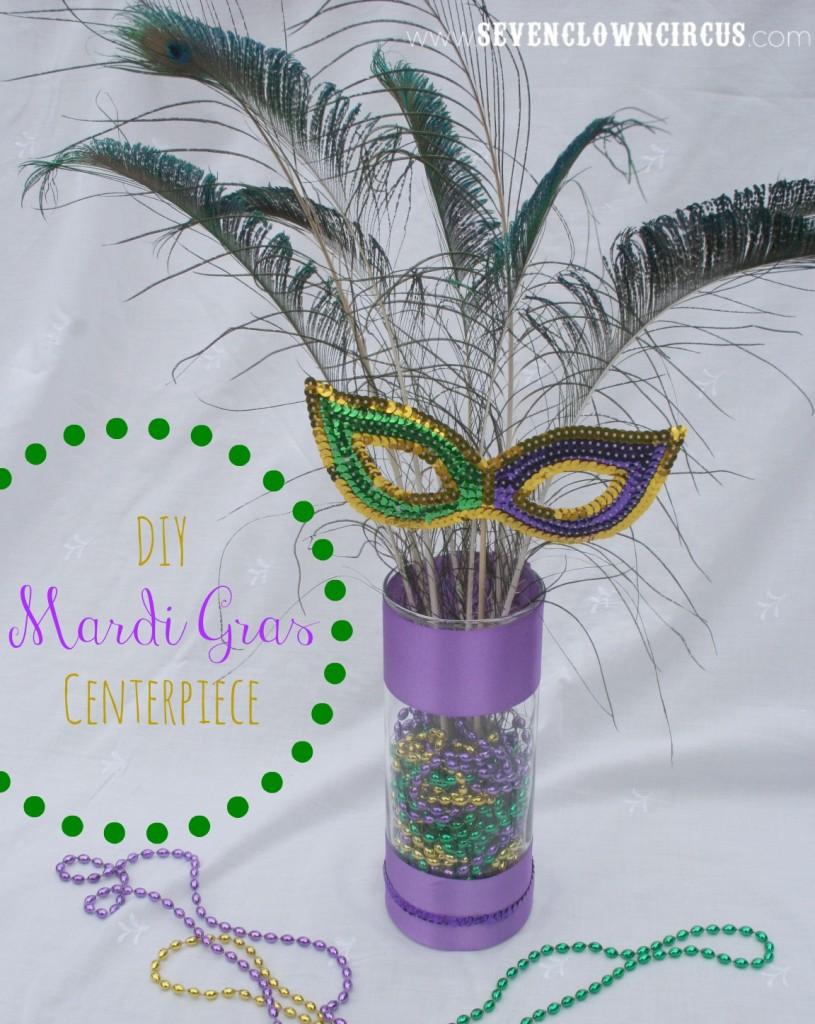 DIY Mardi Gras Centerpiece