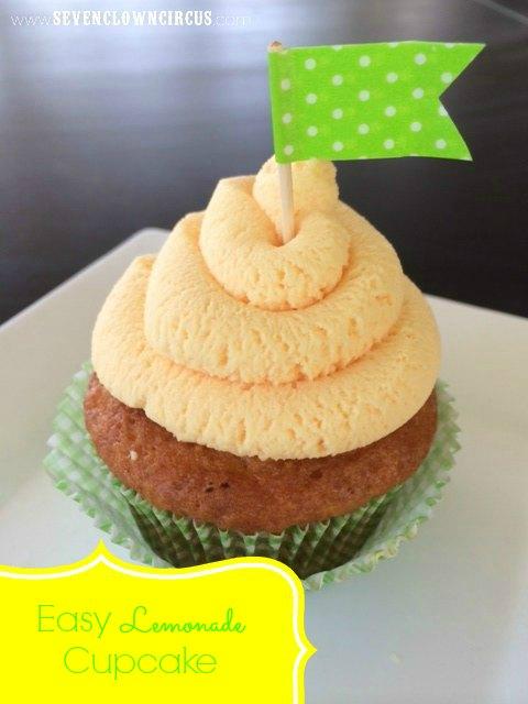 easy lemonade cupcake