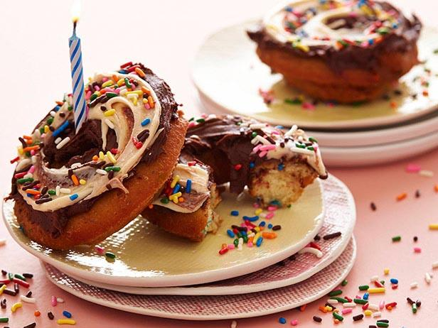 Birthday Cake Doughnut