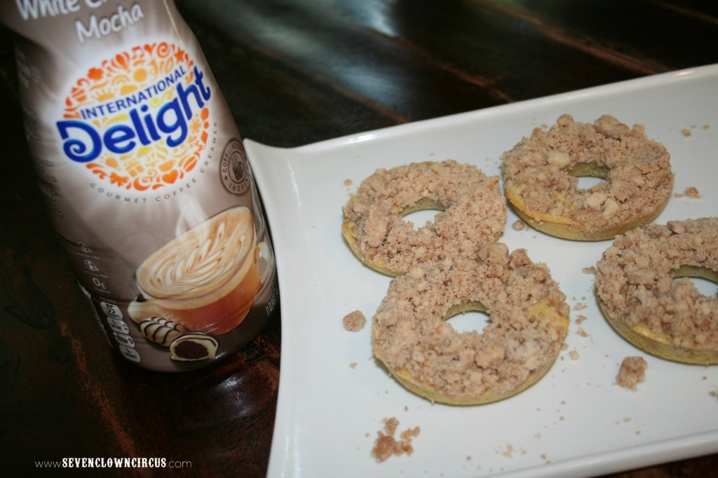 white chocolate mocha donut