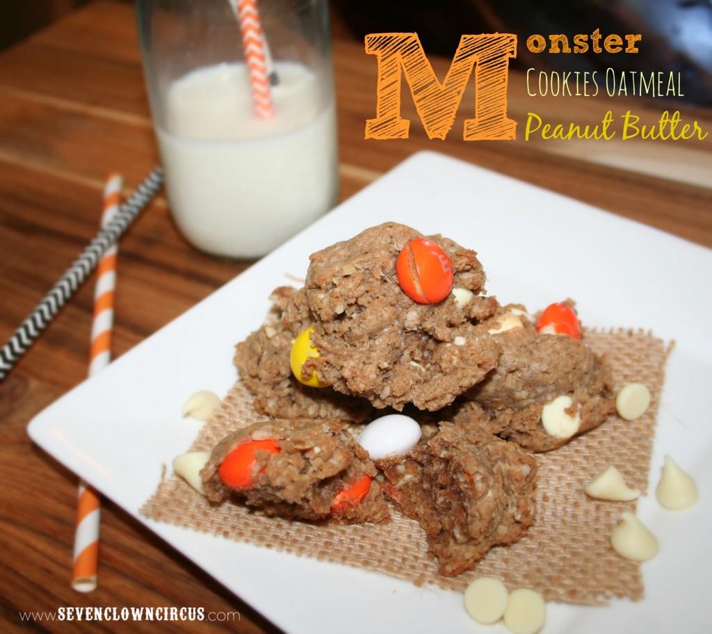 Monster  Cookies Oatmeal  Peanut Butter