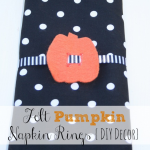 Felt Pumpkin Napkin Rings {DIY Decor}