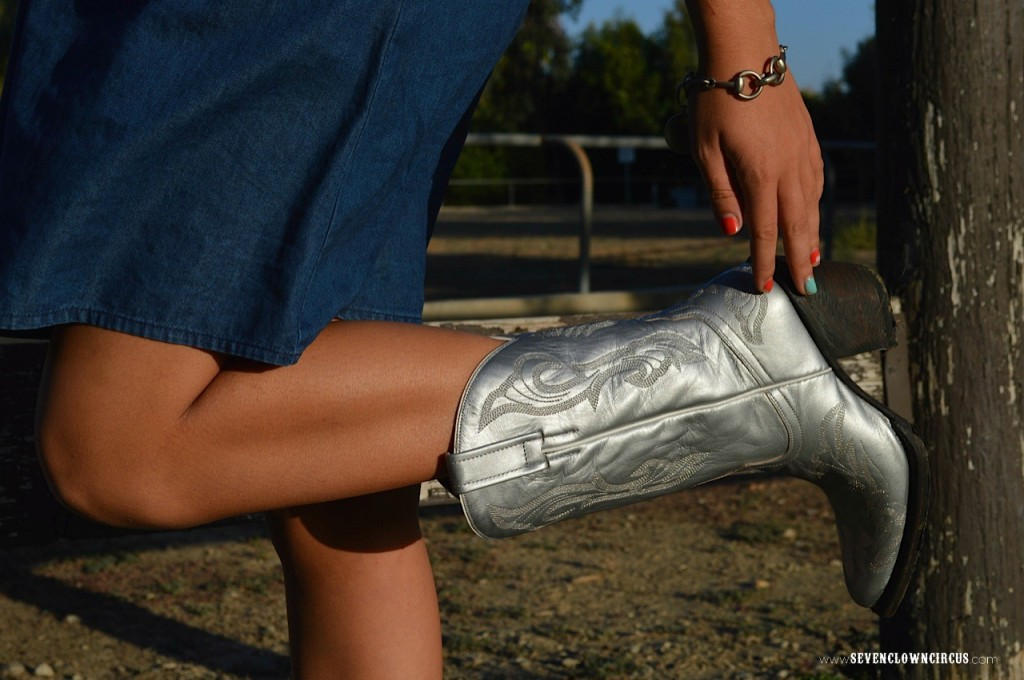 Silver cowboy boots country outfitters
