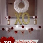 XO Valentine's Day Mantel