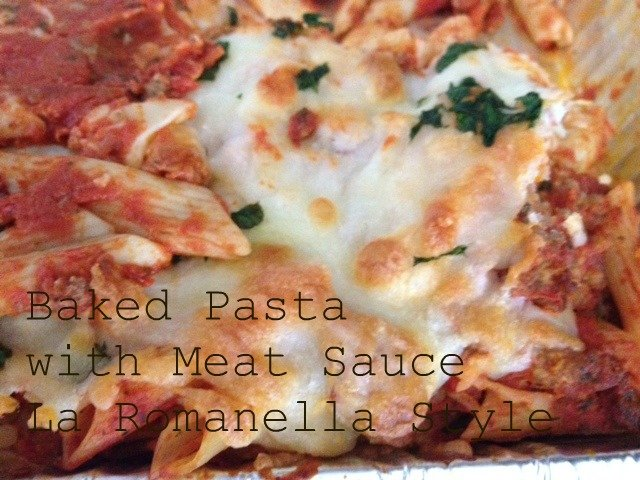 Baked Pasta with Meat Sauce