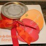 Oranges & Apple Sugar Scrub Recipe {homemade gift idea}