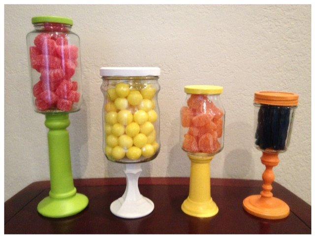 candlestick candy jar