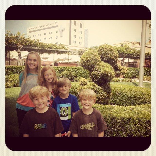 the kids at Disney Studios