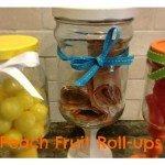 Peach Fruit Roll-ups Plus {School Lunch Organization}