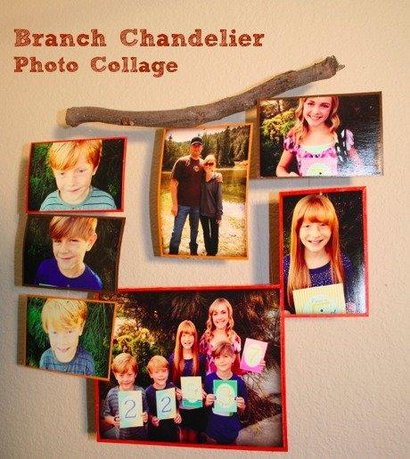 Branch Chandelier Photo Collage