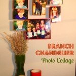 Branch Chandelier Photo Collage {DIY Decor}