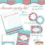Free Printable Chevron Party Kit!