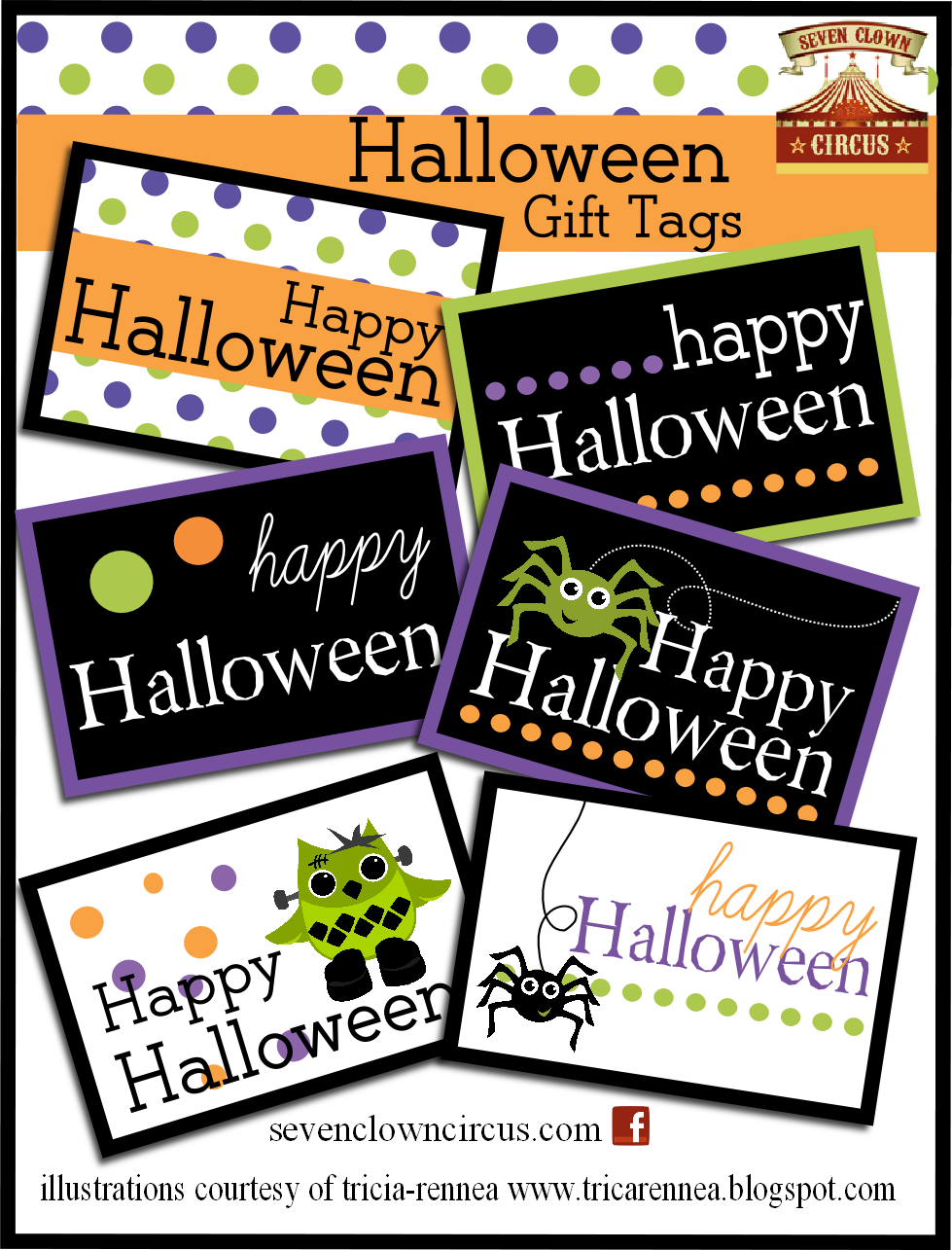 It is an image of Halloween Gift Tags Printable for happy