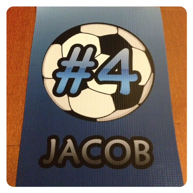 Wall Hanger from AYSO Team Banner {tutorial}