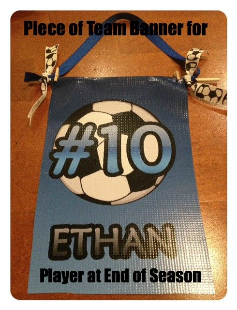 How to Divide Your AYSO Team Banner at the End of the Season {tutorial}