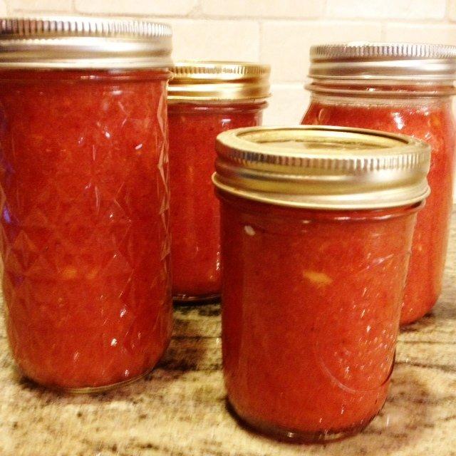 strawberry Mango freezer jam