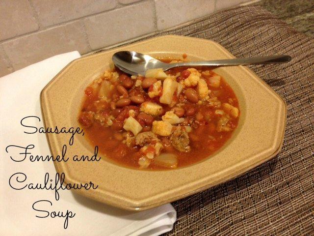 sausage fennel cauliflower soup