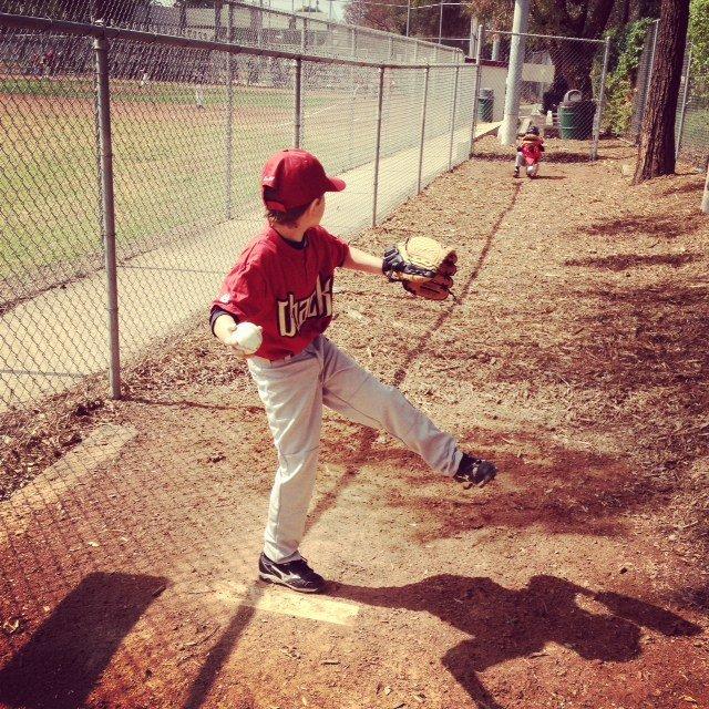 Garrett pitching