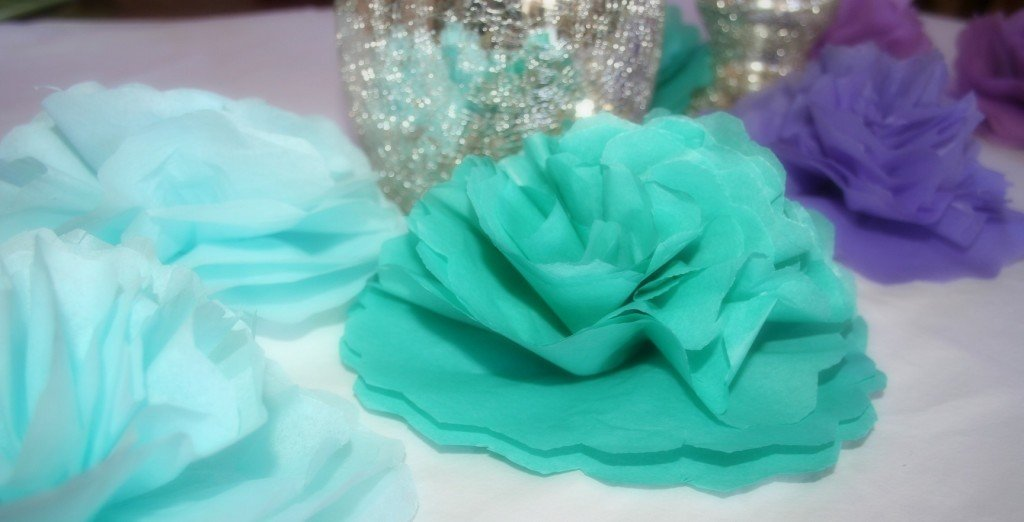How to Make a Tissue Flower Centerpiece