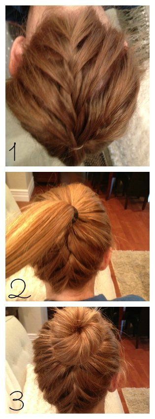 How To Do An Upside Down Braid Into A Bun